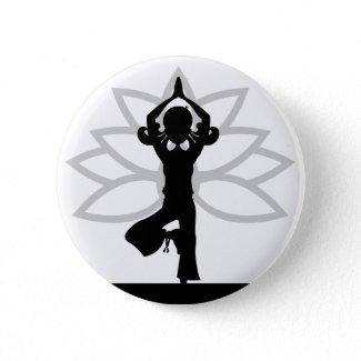 Simple Yoga Silhouette Button button