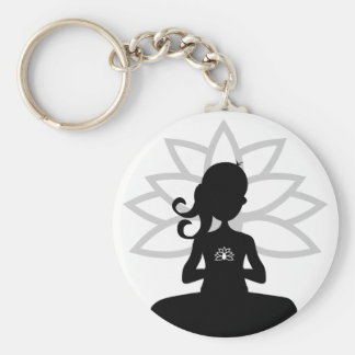 Simple Yoga Silhouette Keychain