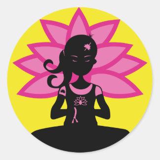 Simple Yoga Silhouette Sticker