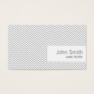 Simple Zigzag Game Testing Business Card