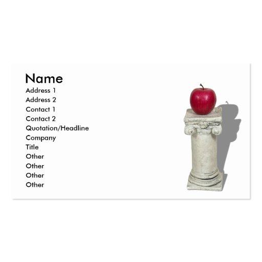 SimpleAppleColumn061210Shadows, nombre, dirigen 1… Tarjetas De Visita