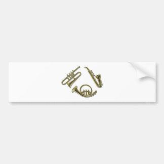SimpleDecorMoldedHorns081311 Bumper Sticker