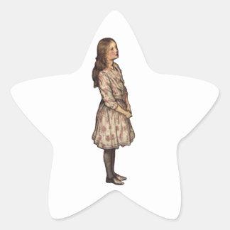Simplemente Alicia de Arturo Rackham Pegatina En Forma De Estrella