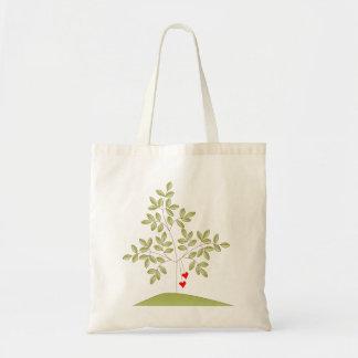 Simplemente árbol de amor bolsa tela barata
