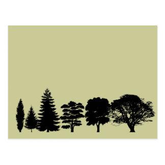 Simplemente árboles postal