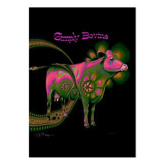 Simplemente bovino - tarjetas de comercio del arti plantillas de tarjetas personales