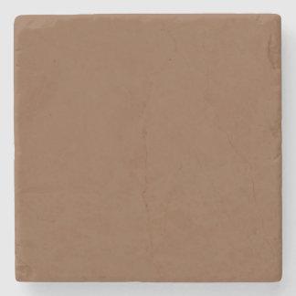 Simplemente color sólido de Brown Posavasos De Piedra