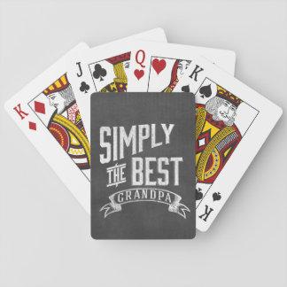 Simplemente el mejor abuelo barajas de cartas