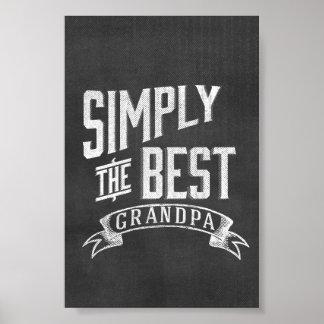 Simplemente el mejor abuelo posters