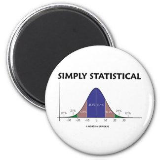 Simplemente estadístico (actitud de la curva de imán redondo 5 cm