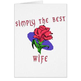 Simplemente la mejor esposa tarjetas
