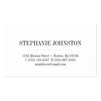 Simplemente llamada personal de la raya del trullo tarjetas de negocios
