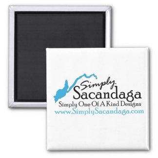 Simplemente logotipo de Sacandaga Imán Cuadrado