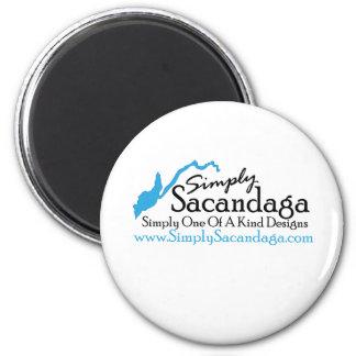 Simplemente logotipo de Sacandaga Imán Redondo 5 Cm