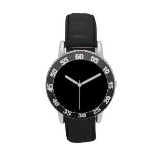 Simplemente negro reloj de mano