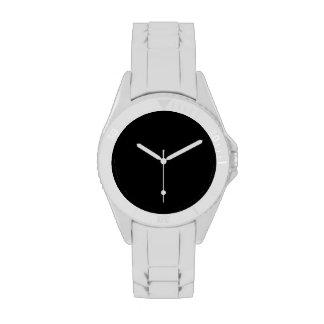 Simplemente negro relojes de pulsera