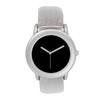 Simplemente negro reloj