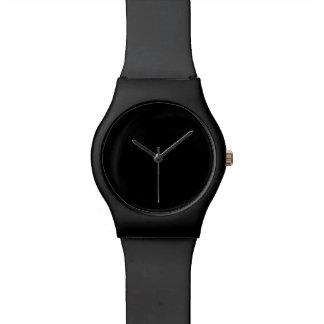 Simplemente negro relojes de mano