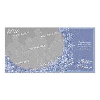 Simplemente opción horizontal 2 de la tarjeta de tarjetas personales con fotos