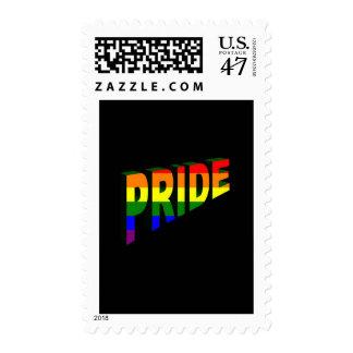 Simplemente orgullo del arco iris timbres postales