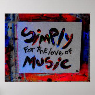 simplemente para el amor de la música póster