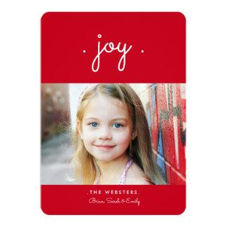 """Simplemente rojo de la tarjeta el   de la foto del invitación 5"""" x 7"""""""