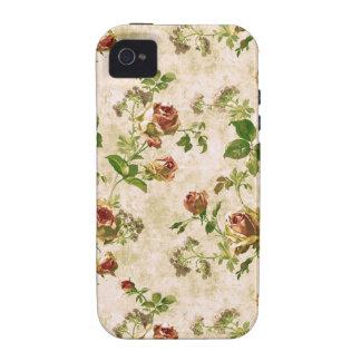 Simplemente rosas de la col de la cabaña del iPhone 4 carcasa