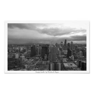 """""""Simplemente Seattle"""" blanco y negro Fotografía"""