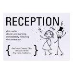 Simplemente tarjeta de la recepción nupcial del tarjetas de visita grandes