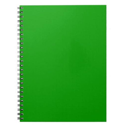 Simplemente verde libros de apuntes
