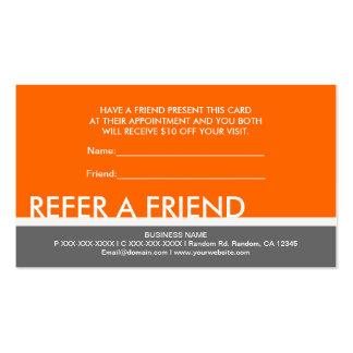 Simples grises anaranjados refieren tarjetas de en plantilla de tarjeta de visita