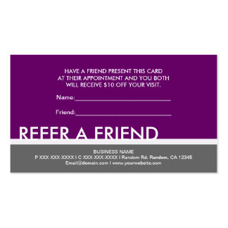 Simples grises púrpuras del ciruelo refieren tarjetas de visita