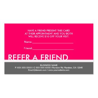 Simples grises rosados brillantes refieren tarjeta plantilla de tarjeta personal