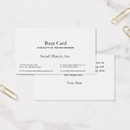 Simplest Serif American Garamond Gothic Template Business Card