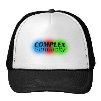 simplicidad compleja gorros bordados