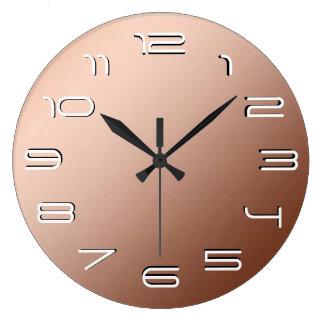 Simplicidad de cobre de la elegancia reloj redondo grande