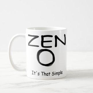 Simplicidad del zen taza