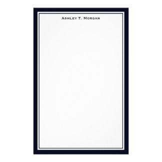 Simplicidad efectos de escritorio azules/blanco papelería