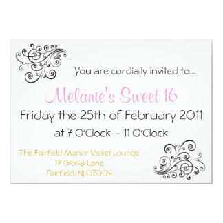 Simplicidad en 16 invitaciones invitación 12,7 x 17,8 cm