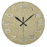 Simplicidad floral del vintage reloj de pared