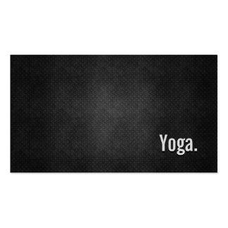 Simplicidad negra fresca del metal de la yoga plantilla de tarjeta de negocio