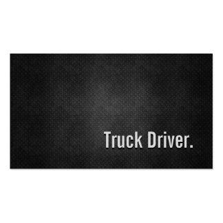 Simplicidad negra fresca del metal del conductor tarjetas de visita