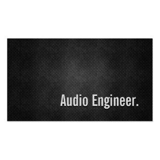Simplicidad negra fresca del metal del ingeniero tarjetas de visita