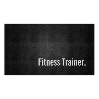 Simplicidad negra fresca del metal del instructor tarjeta personal