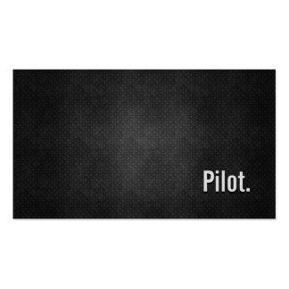Simplicidad negra fresca experimental del metal tarjetas personales