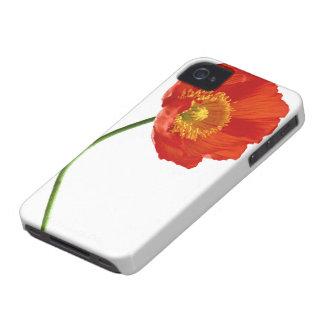 Simplicidad roja de la amapola Case-Mate iPhone 4 cobertura