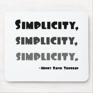 Simplicidad Alfombrilla De Ratón