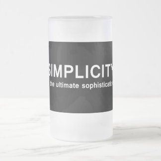 Simplicidad Taza De Cristal