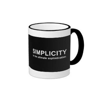 Simplicidad Taza De Dos Colores