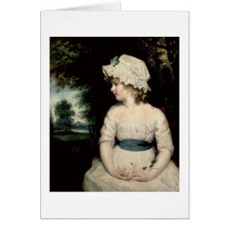 Simplicidad - un retrato de Srta. Theophilia Ghatk Felicitación